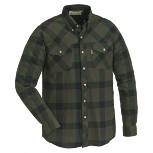 Pinewood Košile Lumbo - Zeleno/Černá